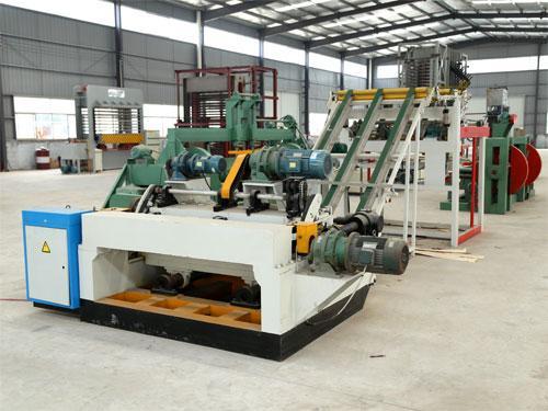 System composition of flexible CNC veneer peeling machine
