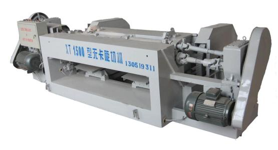 The reason why the shaftless veneer peeling machine runs to the right